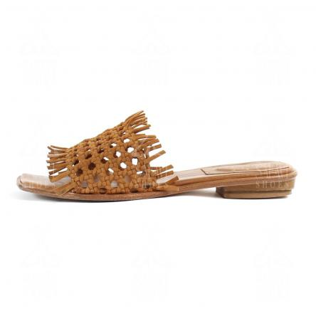 Woven Flat Leather Sandals for Sale