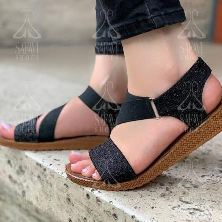 High Quality Women's Black Sandal Shoes for Sale