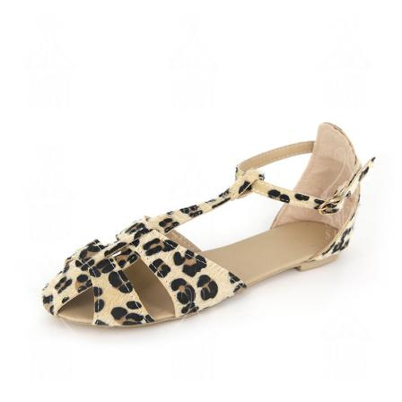 Famous Leopard Print Flat Sandals for Sale