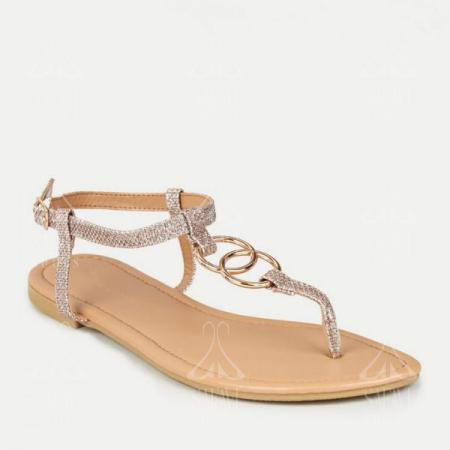 6 Gold flat sandals wholesale price in 2020