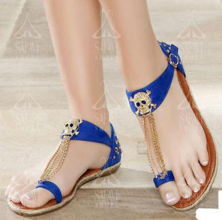 Newest price range of tie up flat sandals