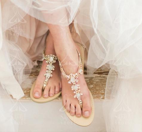 Find and Buy Bridesmaid Flat Sandals at Low Price